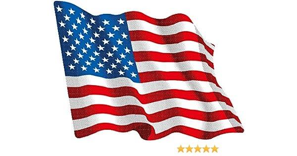 Amazon.es: Artimagen Pegatina Bandera Ondeante USA pequeña 65x50 mm.