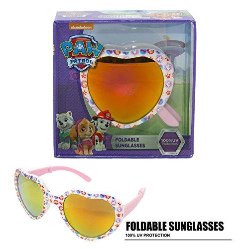Nickelodeon Paw Patrol Heart Shaped Girls Foldable Kid's Sunglasses - Away Sunglasses Fold