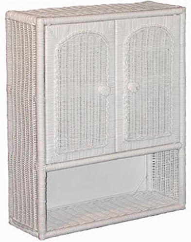Amazon Com White Wicker Bathroom Wall Medicine Cabinet Home Kitchen