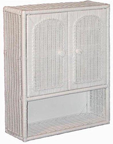 White wicker bathroom wall medicine cabinet 30 off - Wicker bathroom storage cabinets ...
