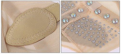 Yaling International Trading Limited ISYITLTY Frauen Ballett Bauchtanz lyrische halbe Sohle Pfoten Pad Fuß Thong Dance Paw Schuhe 8 Styles Strass