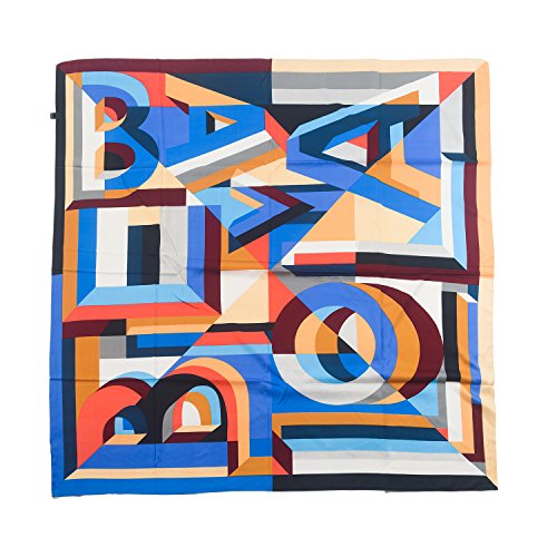4 Square Letter (Aquazolax Vibrantly Colored Elegant Geometry stitching Letters Pattern Women Square Scarf Extra Large Bandana, 49 x 49 inch (125 x 125 cm), 4-Mixd-Color 1)