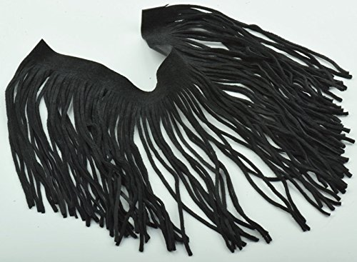 Fringe Black Leather - Fine Cut Black Leather Fringe (embellishment for purses, jackets or other accessories, sold by ft)