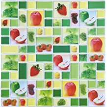 Pattern Tile Wall Sticker Backsplash(10-Pack) (Fruit pattern)