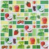 hue decoration fruit pattern adhesive tile backsplash10 x 1010 sheets