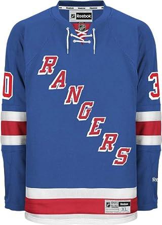 detailed pictures de69d afa90 sale mens new york rangers henrik lundqvist reebok blue home ...