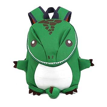 PAWACA - Mochila de Dinosaurio 3D para niños y niñas, Mochila de Dibujos Animados para
