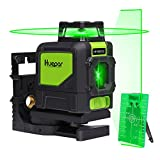 Huepar 901CG Professional Laser Level, Mute 150 Ft Green Beam Cross Laser Self-Leveling 360-Degree Horizontal Line with Magnetic Pivoting Base, 2 Full-time Pulse Modes