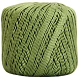 New ! Classic Crochet Thread 21 Colors Size 3 Cotton 50G Ball 3 PLY (Avocado)