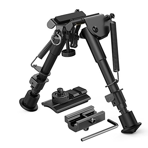 X-Aegie Riflebipod 3 in 1 Legs Sniper Hunting Tactical Rifle Bipod + Picatinny Mount/Rail Sling Adapter+Swivel Stud Shooter Mounts Adapter and Slot Adaptor Kit Included