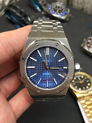 My_TimeZone Luxury brand top high best quality Japanese Automatic Silver/Blue bracelet model watch - Automatic Products Ap