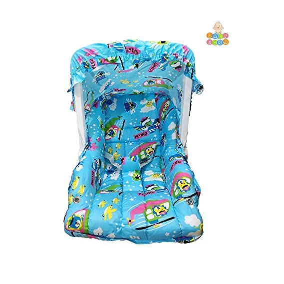 Baby Carry Cot Cum Bouncer - 11 in 1 - Feeding Chair, Baby Chair, Rocker, Bath TUB, Carrying, Bouncer, Bottle Holder