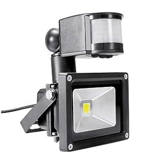 PIR 10W LED reflector Toolery 12V 24V foco de entrada a prueba de ...
