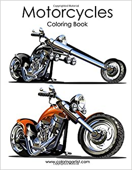 Motorcycle Coloring Book 1 (Volume 1): Nick Snels: 9781519308269 ...