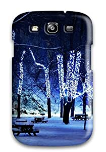 GrHDnoX3753kwXZb Faddish Beautiful Christmas Lights Case Cover For Galaxy S3