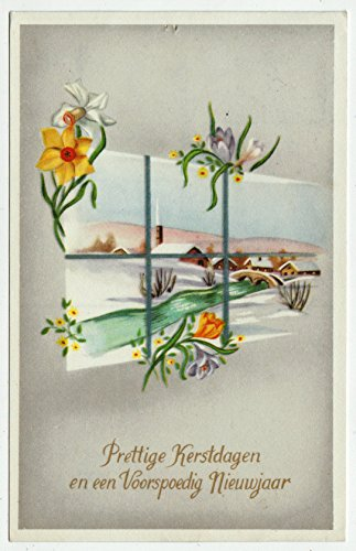 Merry Christmas and Prosperous New Year Vintage Original Postcard #0202 - December 21, 1972