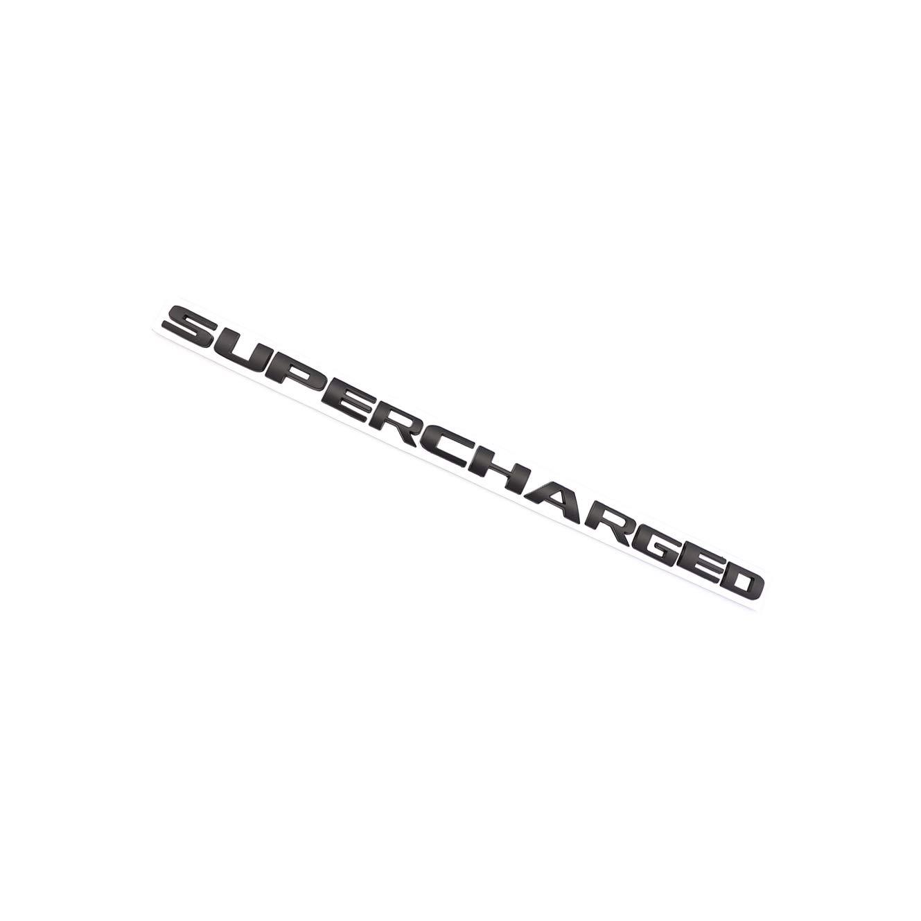 Black Metal Supercharged Letter Emblem Badge Fit for Chevrolet Right /& Left Side Door Fender Trunk Lid Badge Nameplate Decorativ