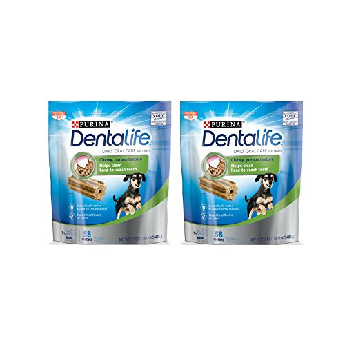 Purina DentaLife Daily Oral Care Mini Dog Treats - 58 ct. Pouch - 2 Pack