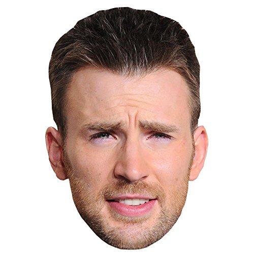 Chris Evans Celebrity Mask, Card Face and Fancy Dress Mask -