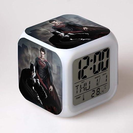 Baobaoshop Dawn of Justice LED Despertador 7 Cambio de Color Reloj ...
