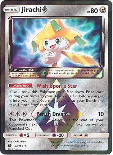 97//168 Holo Rare Jirachi Prism Star SM Celestial Storm Pokemon