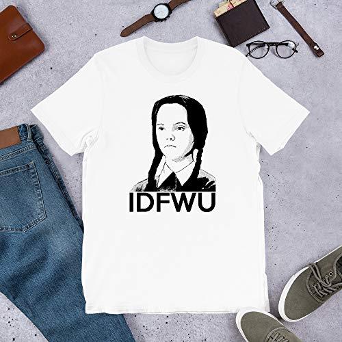 IDFWU Funny Wednesday Addams Graphic Tee The Addams Mens Womens Shirt Unisex T-Shirt Sweatshirt (White-4XL) ()