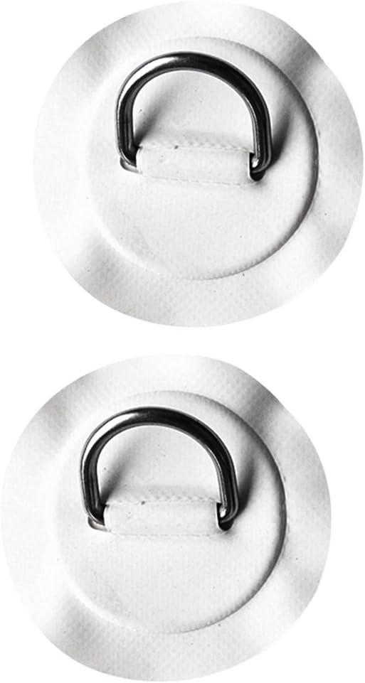 T TOOYFUL 1 Paar Edelstahl D Pad//Patch F/ür PVC