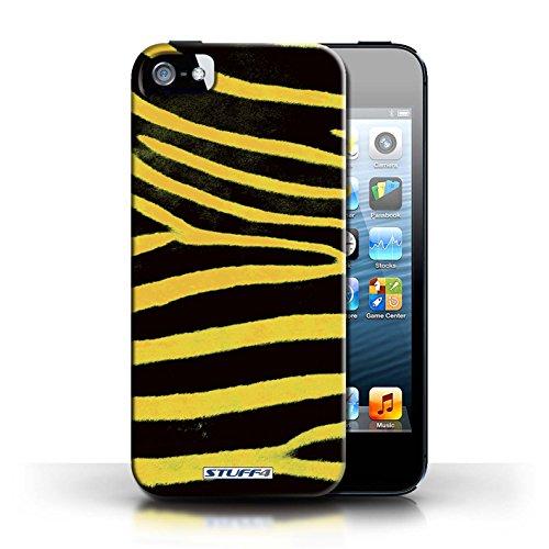 iCHOOSE Print Motif Coque de protection Case / Plastique manchon de telephone Coque pour Apple iPhone 5/5S / Collection Zèbre animale Peau/Motif / Jaune
