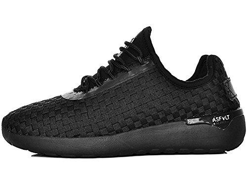 Asfvlt - Zapatillas de Material Sintético para hombre negro