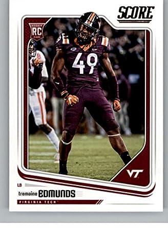 2018 Score  346 Tremaine Edmunds Virginia Tech Hokies Rookie RC Football  Card ce3e84fd8
