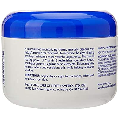 Vital Care Vitamin E Crème, (8 Fl. Oz), A Complete Skin Care with Age- Defying Antioxidants for Men and Women: Beauty