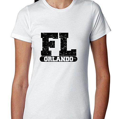 Hollywood Thread Orlando, Florida FL Classic City State Sign Women's Cotton T-Shirt