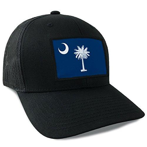 (South Carolina State Flag Flexfit Mesh Tactical Trucker Snapback Hat)