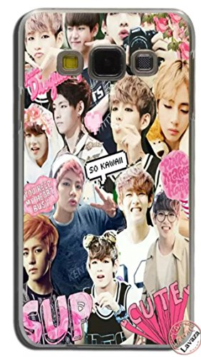 LLM 7 BTS Logo Love Yourself Face Love Wings Kpop Bangtan Boys Band Korean Rapmonster Jin Suga J-Hope Jimin V Jungkook Music Transparent Hard Cover Case For Samsung (Samsung Galaxy J3 2015/2016)