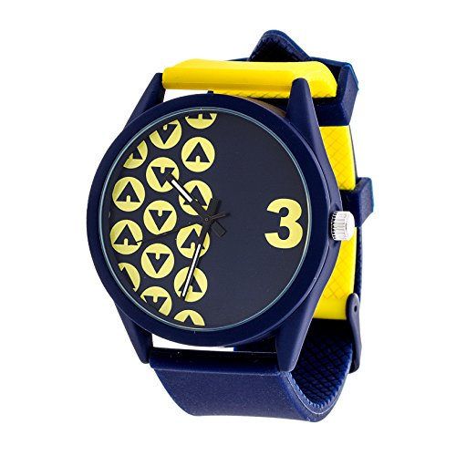 Airwalk Chinese-Automatic Watch with Silicone Strap, Black (Model: AWW-5098-YE)