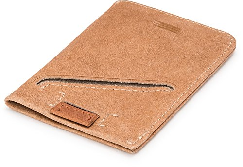 Anburi Ultra Slim Card Sleeve, Italian Leather, Approx. 10 Cards & Bills - Guys Cute Hipster