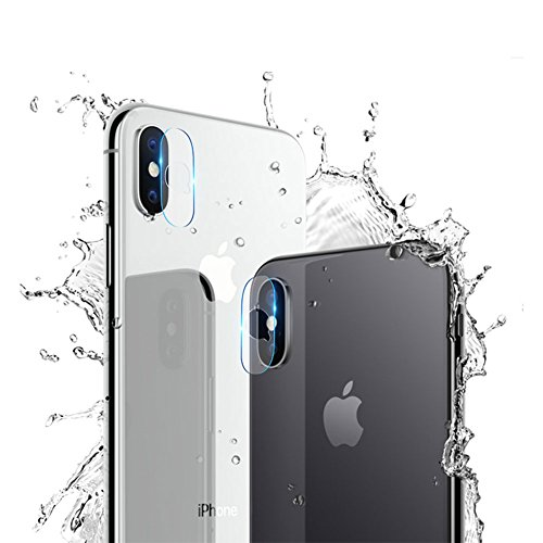 HaloVa Camera Lens Protector, Ultra Thin Transparent Clear Camera Tempered Glass Protector, High Definition Camera Lens Tempered Glass Screen Protector for iPhone X (2 Pieces )