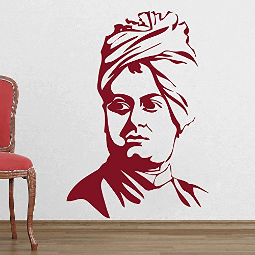 dreamkraft凡例Swami Vivekanand壁装飾アートステッカービニールデカールホームデコレーションリビングルーム&キッズ寝室(18 x 26インチ用) B07C834X4J
