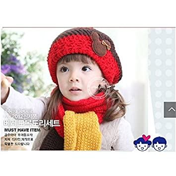 f6d523703842 Buy Generic 1   Knitting Girls Hats scarf sets for Boys Stocking Hat  newborn Cap Kids Wool Beanie Child winter hat Crochet snapback Bucket Bonet  Online at ...