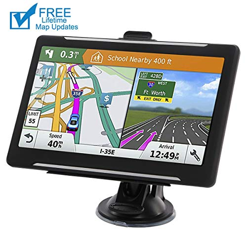Car GPS, 7-inch Car Portable Navigation, 256-8GB Car GPS Satellite Navigator, Lifetime Map Update