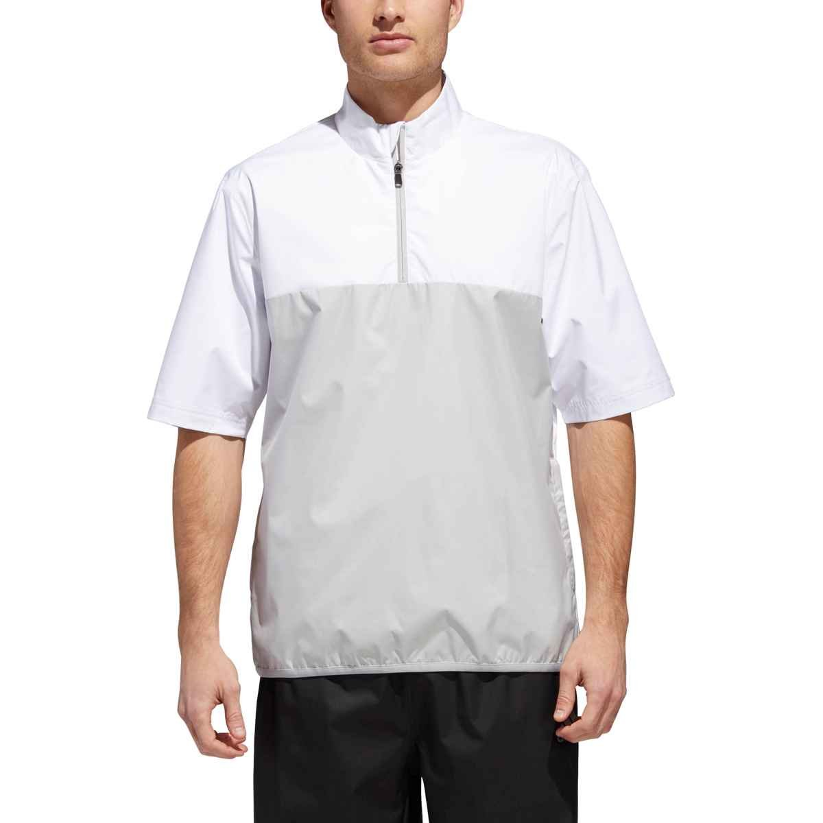 adidas Golf Climatstorm Provisional Short sleeve Rain Jacket, White, XX-Large by adidas