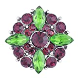 20PCS/Lot Wholesale Vocheng 3 Colors Bling Rhinestone 18mm Snap Jewelry Vn-101020 Pack of 20pcs (A)