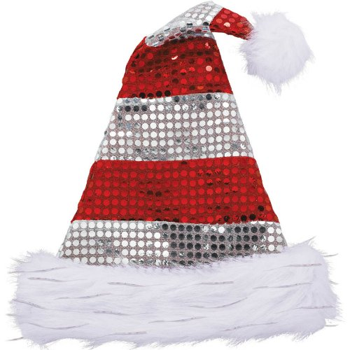 ed6db9ba5fc Image Unavailable. Image not available for. Color  Amscan Sparkle Santa Hat