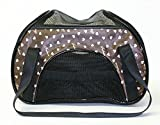 Brown Pet Carrier Stylish Travel Cat Small Dog, Puppy Carrier Foldable Bag Airline Approved