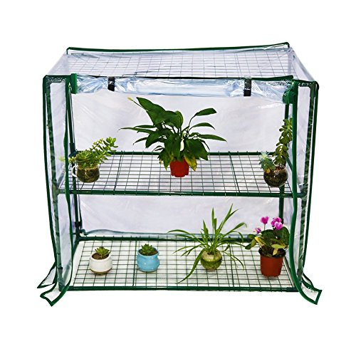 Abba Patio 2 Tier Mini Greenhouse Portable Lawn and Garden Green House, 40