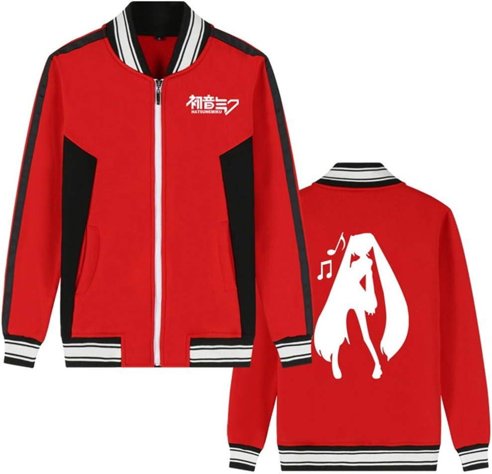 Cosstars Hatsune Miku Anime Baseball Uniform Jacket Adulte Cosplay Zipp/é Sweatshirt Veste Manteaux Outerwear Bomber Blouson