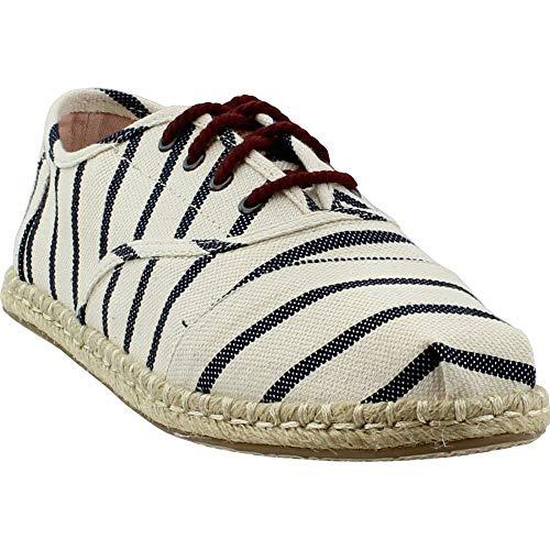 TOMS Women's Cordones Natural Stripe Woven 9.5 B US B (M) - Natural Beige Stripes