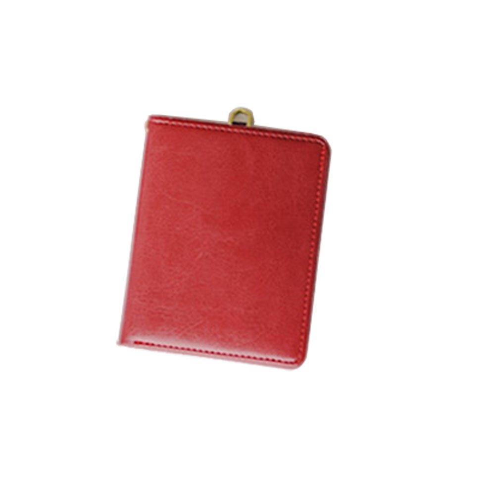 ID Card Badge Holder Zipper Card Case Wallet Lanyard Neck Strap (Dark Gray) JINU
