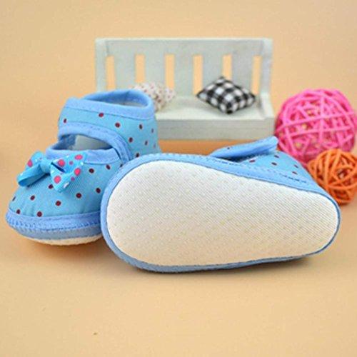 Tefamore Zapatos Bebe De Primeros Pasos Calzado De Estilo La Flor De Mariposa Pequeñas Botas Para Primeros Caminantes(Colores Opcional) Azul