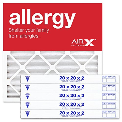(AIRx Filters Health 20x20x2 Air Filter MERV 13 AC Furnace Pleated Air Filter Replacement Box of 6, Made in the USA)